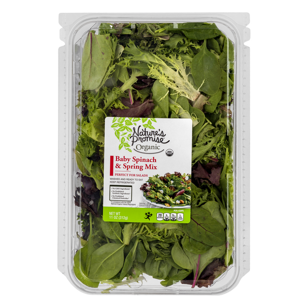 Nature's Promise Organic Baby Spinach & Spring Mix