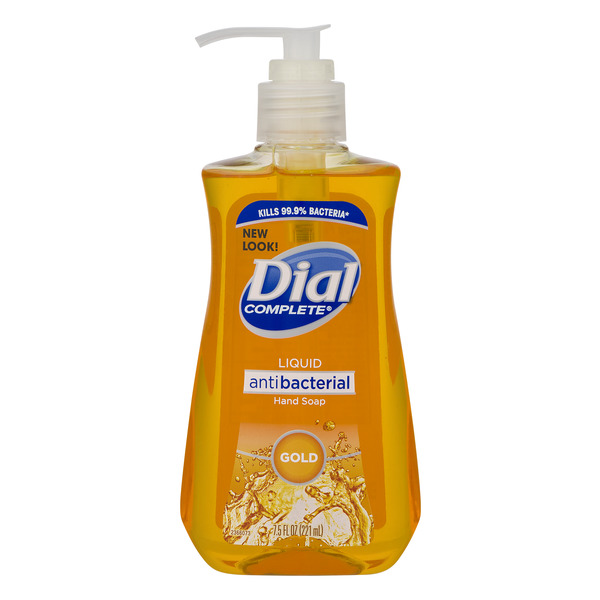 Dial Liquid Hand Soap Antibacterial with Moisturizer Gold Pump