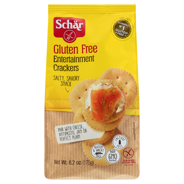 Schar Entertainment Crackers Gluten Free