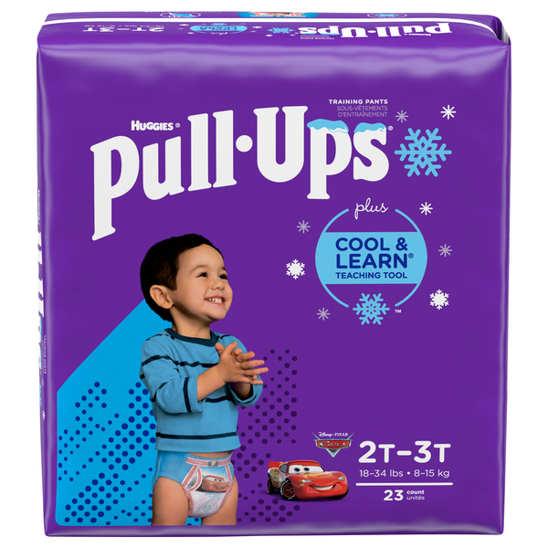 Huggies Pull-Ups Cool & Learn 2T-3T Training Pants Boys 18-34 lbs