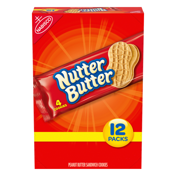Nabisco Nutter Butter Cookies Snack Packs - 12 pk