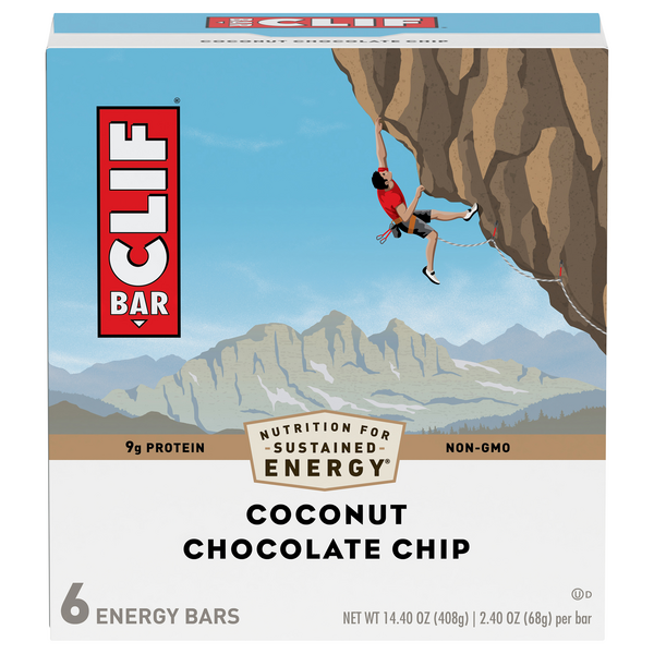Clif Energy Bar Coconut Chocolate Chip Organic - 6 ct