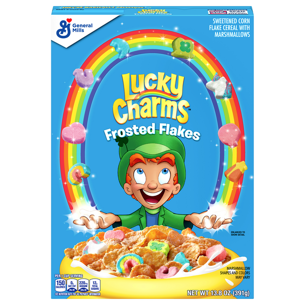 Lucky Charms Cereal Frosted Flakes Marshmallow with 3 New Unicorns
