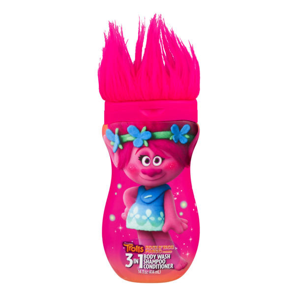 Trolls 3-in-1 Body Wash Shampoo Conditioner