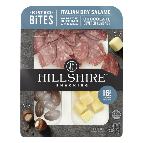 Hillshire Snacking Bistro Bites Italian Dry Salame White Cheddar Cheese