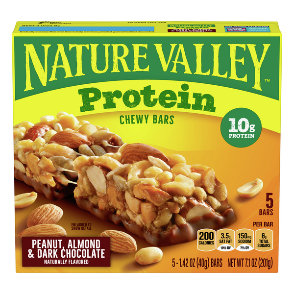 Nature Valley Protein Chewy Bars Peanut Almond & Dark Chocolate - 5 ct