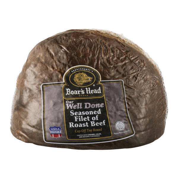 Boar's Head Deli Roast Beef Seasoned Filet of Well Done (Shaved)