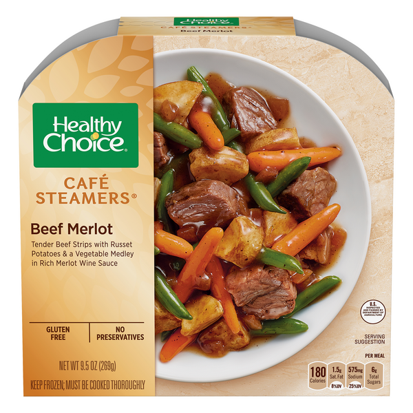 Healthy Choice Cafe Steamers Beef Merlot Gluten Free