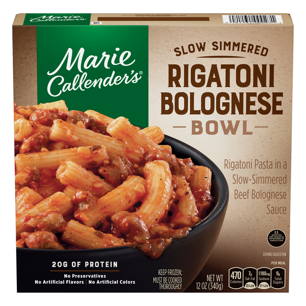 Marie Callender's Slow Simmered Rigatoni Bolognese Bowl