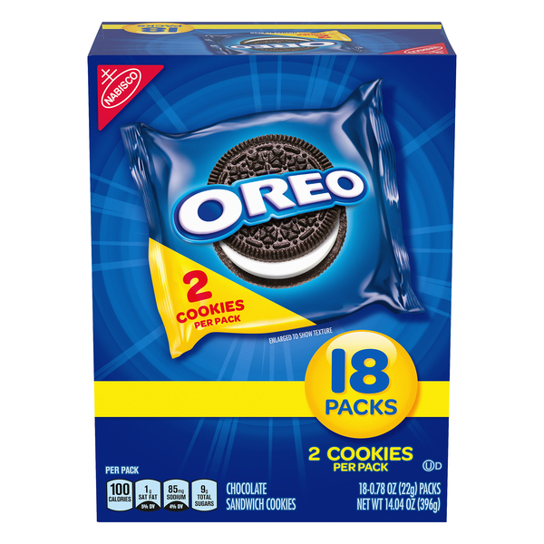 Nabisco Oreo Chocolate Sandwich Cookies Snack Packs - 18 pk