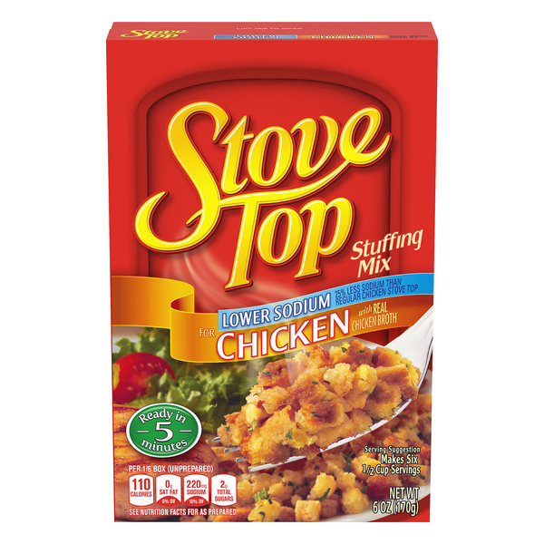 Stove Top Stuffing Mix Chicken Lower Sodium