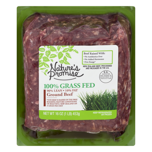 Nature's Promise 100% Grass-Fed Beef Ground Beef 90% Lean 10% Fat
