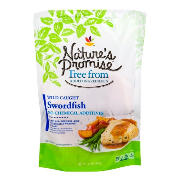 Nature's Promise Free from Swordfish Steaks Wild Caught Frozen