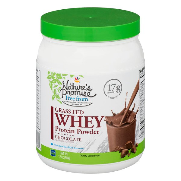 Nature's Promise Grass Fed Whey Protein Powder Chocolate