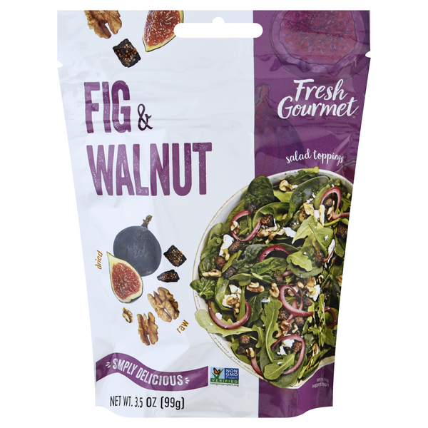 Fresh Gourmet Salad Topping Fig & Walnut