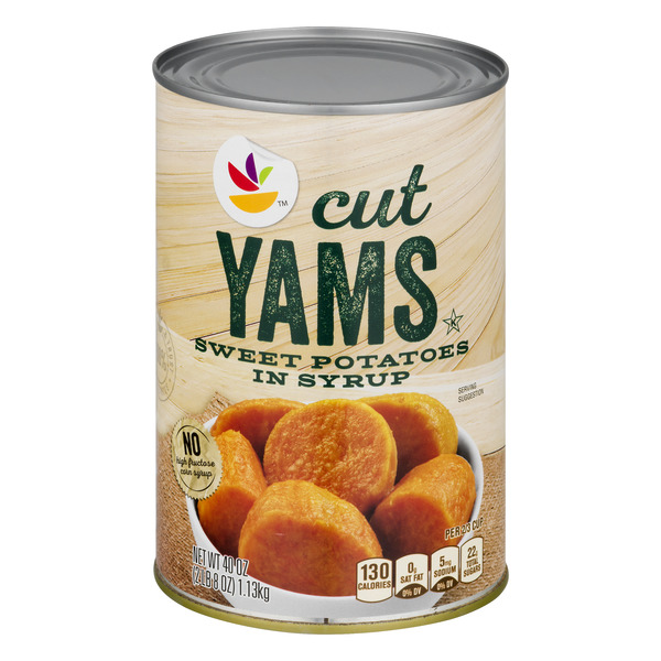 Giant Yams Cut (Sweet Potatoes in Syrup)