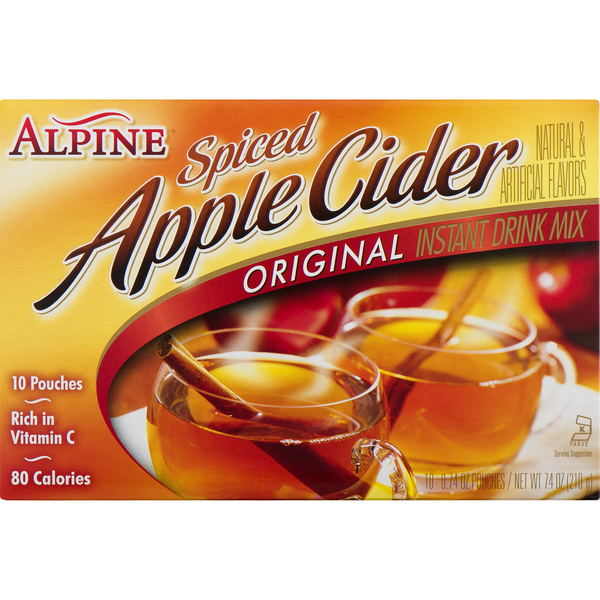 Alpine Drink Mix Original Spiced Apple Cider - 10 ct