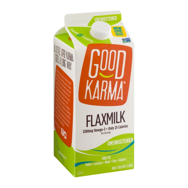 Good Karma Flax Milk Dairy Free Beverage Unsweetened
