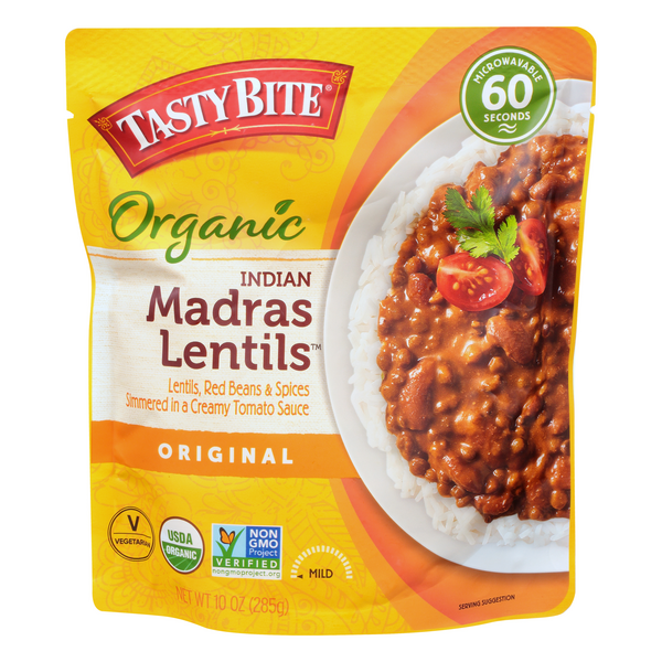 Tasty Bite Heat & Eat Indian Madras Lentils MIld Vegetarian
