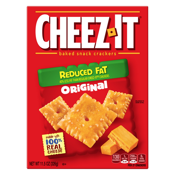 Cheez-It Baked Snack Crackers Reduced Fat