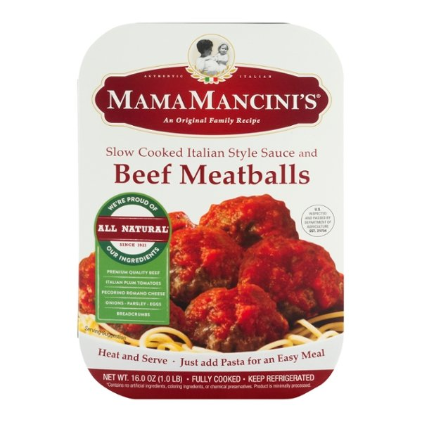 Mama Mancini's Beef Meatballs with Slow Cooked Italian Sauce Frozen