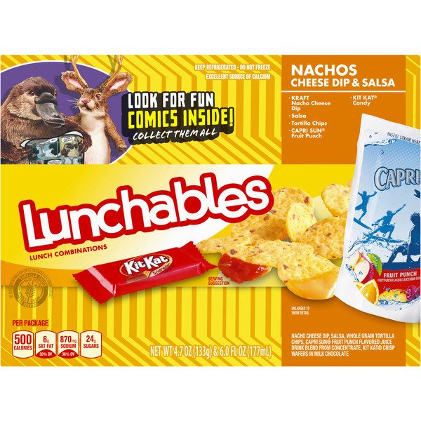 Lunchables Nachos Cheese Dip & Salsa Lunch Combinations