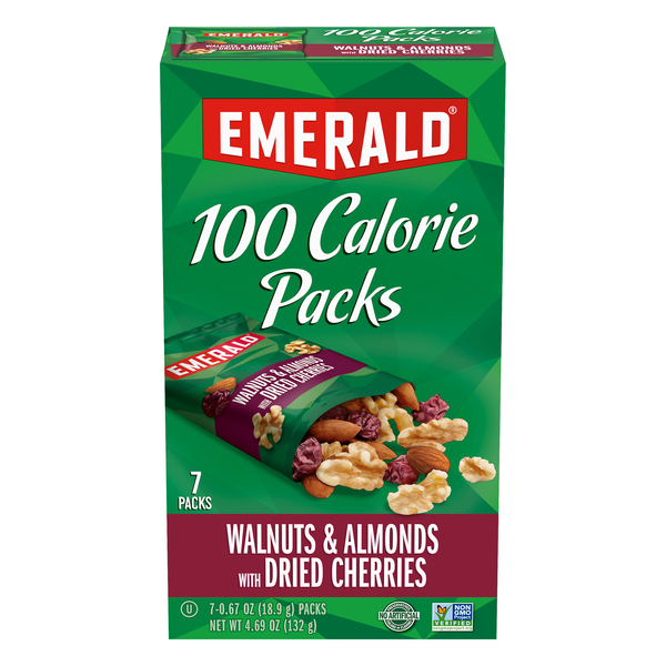 Emerald 100 Calorie Packs Walnuts & Almonds with Dried Cherries - 7 ct