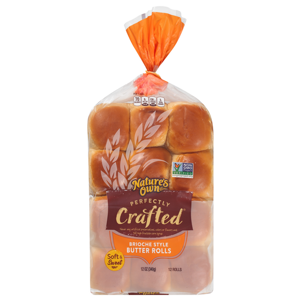 Nature's Own Perfectly Crafted Brioche Style Butter Rolls - 12 ct