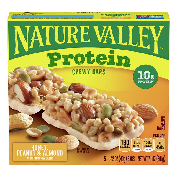 Nature Valley Protein Chewy Bars Honey Peanut & Almond - 5 ct
