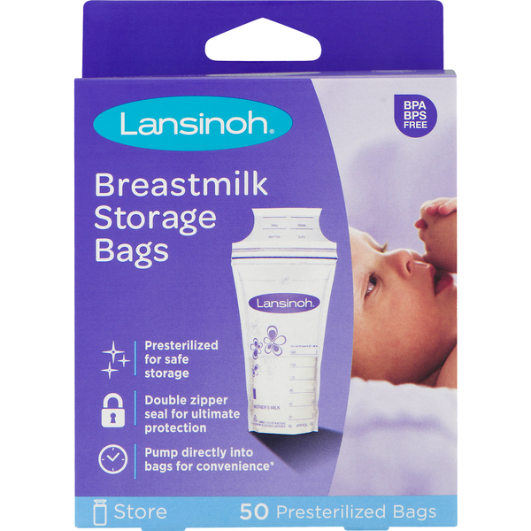 Lansinoh Breastmilk Storage Bags Pre-Sterilized