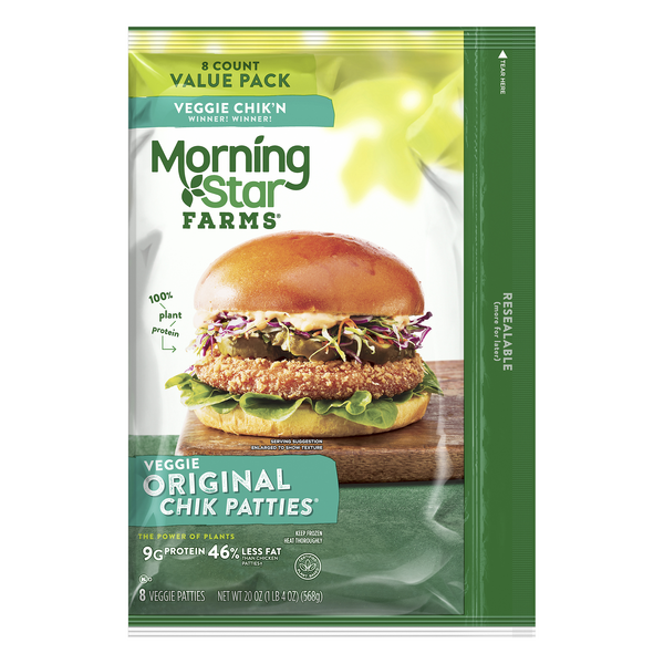 MorningStar Farms Veggie Chik Patties Original - 8 ct