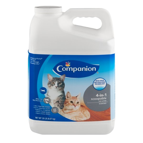 Companion 4-in-1 Scoopable Cat Litter Scented