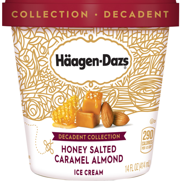 Haagen-Dazs Ice Cream Decadent Collection Honey Salted Caramel Almond