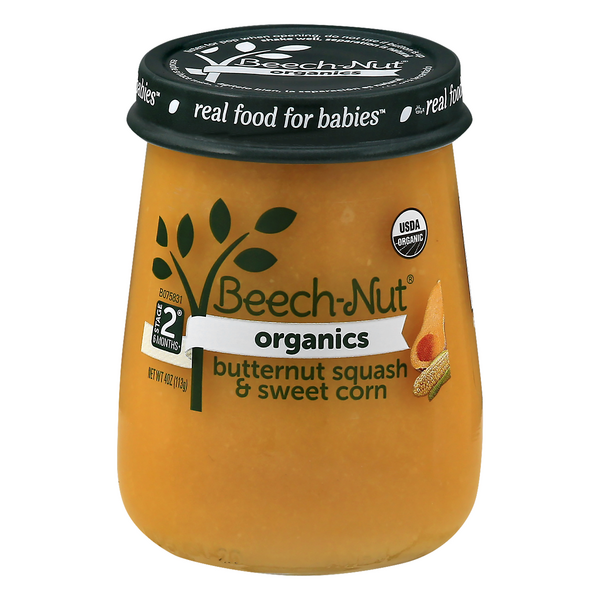 Beech-Nut Organics Stage 2 Baby Food Butternut Squash & Sweet Corn