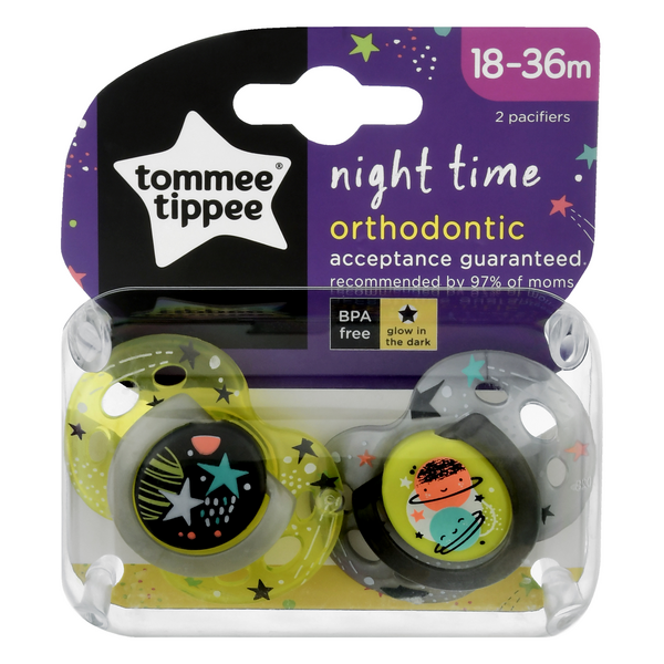 Tommee Tippee Night Time Orthodontic Pacifier 18-36 Months