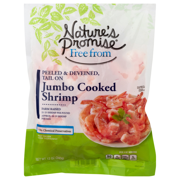 Nature's Promise Free from Cooked Shrimp Shell-On XL 21-25ct per lb Frozen