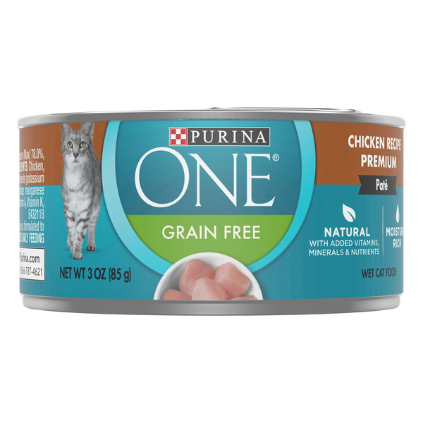 Purina ONE Wet Cat Food Chicken Recipe Grain Free Natural