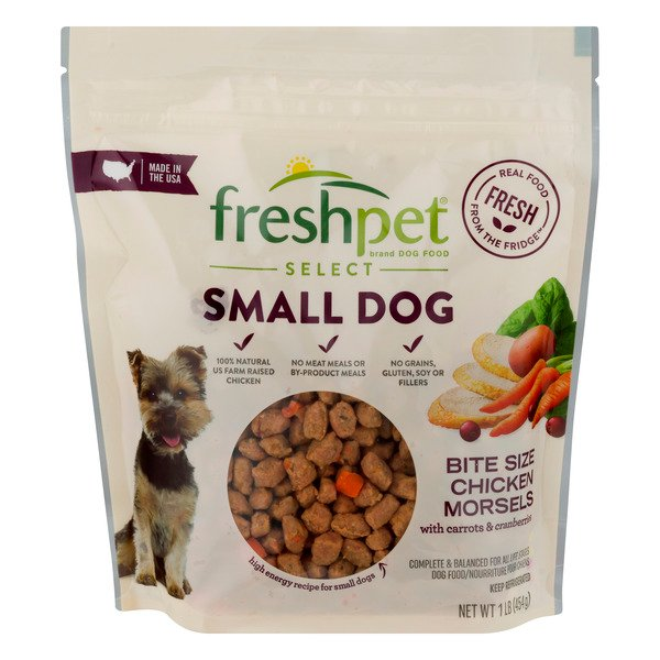 Freshpet Select Refrigerated Small Dog Food Bite Size Morsels Chicken