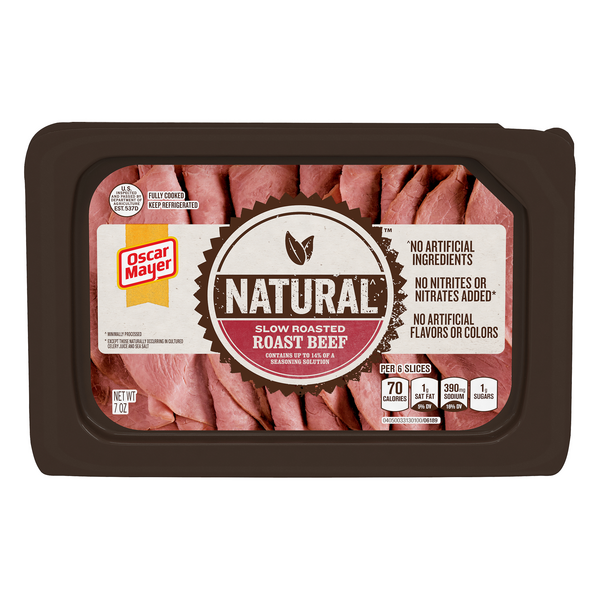 Oscar Mayer Natural Roast Beef Slow Roasted Sliced