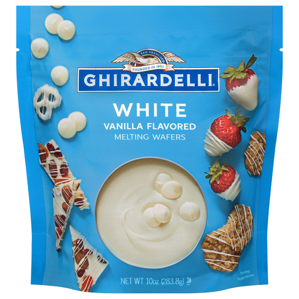 Ghirardelli White Melting Wafers Vanilla Flavored