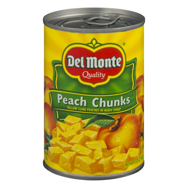 Del Monte Peach Chunks Yellow Cling in Heavy Syrup