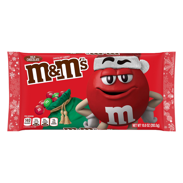 M&M's Milk Chocolate Candies Red & Green Holiday