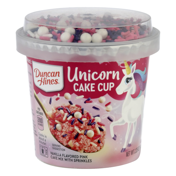Duncan Hines Pink Unicorn with Sprinkles Vanilla Cake Mix Microwavable