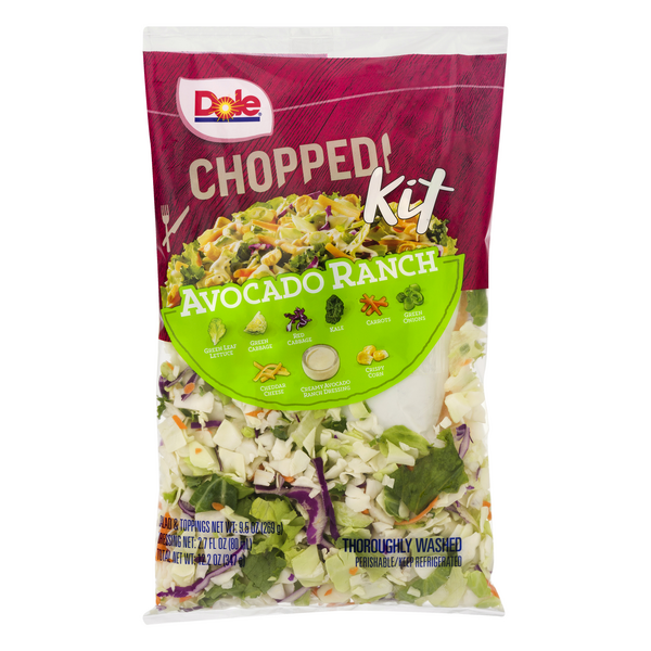 Dole Chopped Kit Avocado Ranch