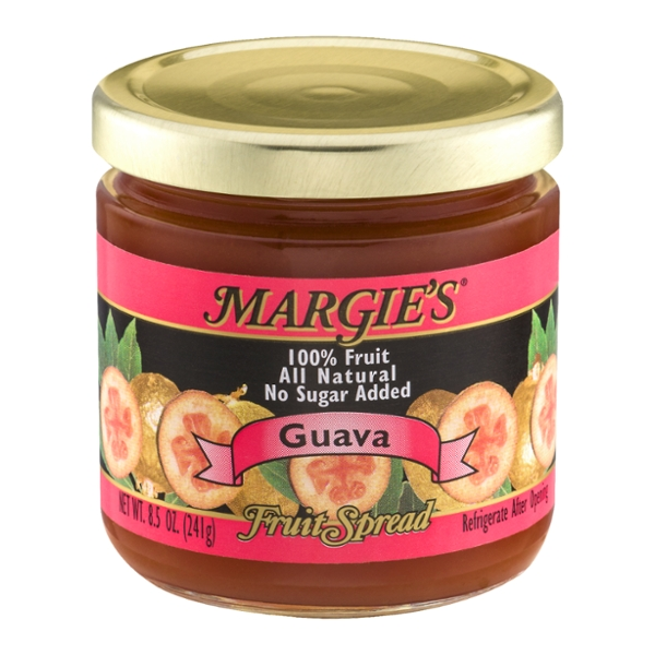 Margie's 100% Fruit Spread Guava No Sugar Added All Natural