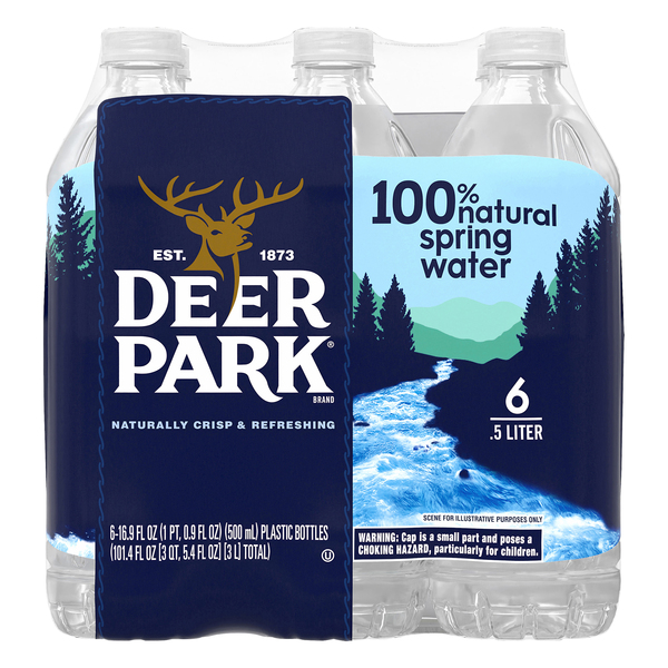 Deer Park Spring Water 100% Natural - 6 pk