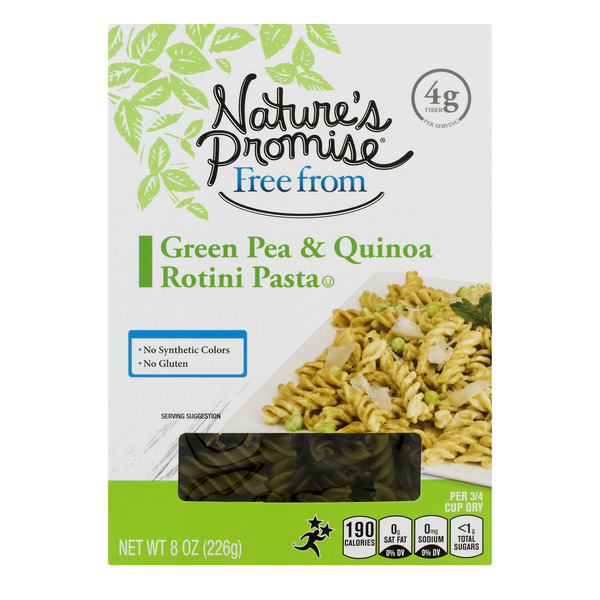 Nature's Promise Free from Green Pea & Quinoa Rotini Pasta