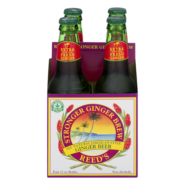 Reed's Jamaican Style Ginger Beer - 4 ct