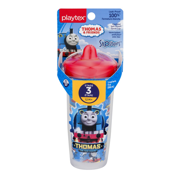 Playtex Sipsters Stage 3 Insulated Spill-Proof Spout Cup Thomas & Friend
