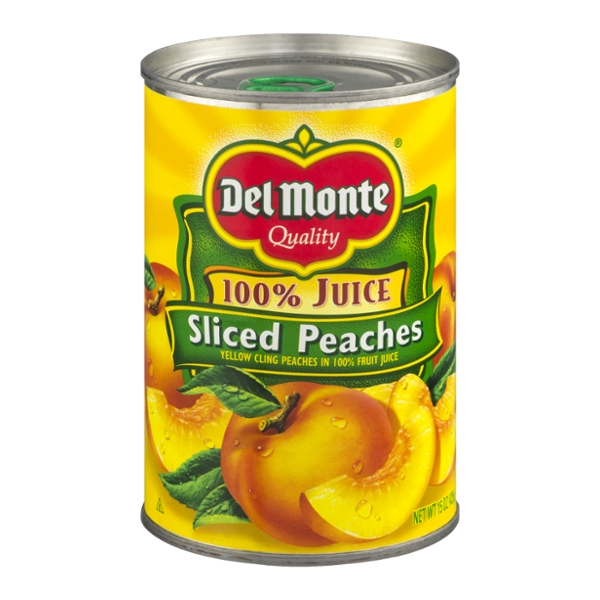 Del Monte Peaches Sliced in 100% Juice